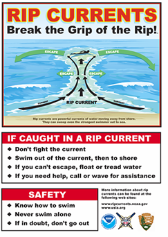 NOAA graphic on rip currents